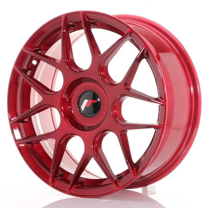 Japan Racing JR18 17x7 ET40 Blank Platinum Red