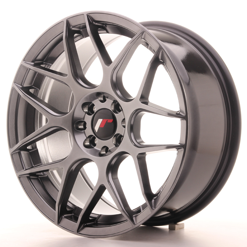 Japan Racing JR18 17x8 ET35 4x100/114 Hyper Black