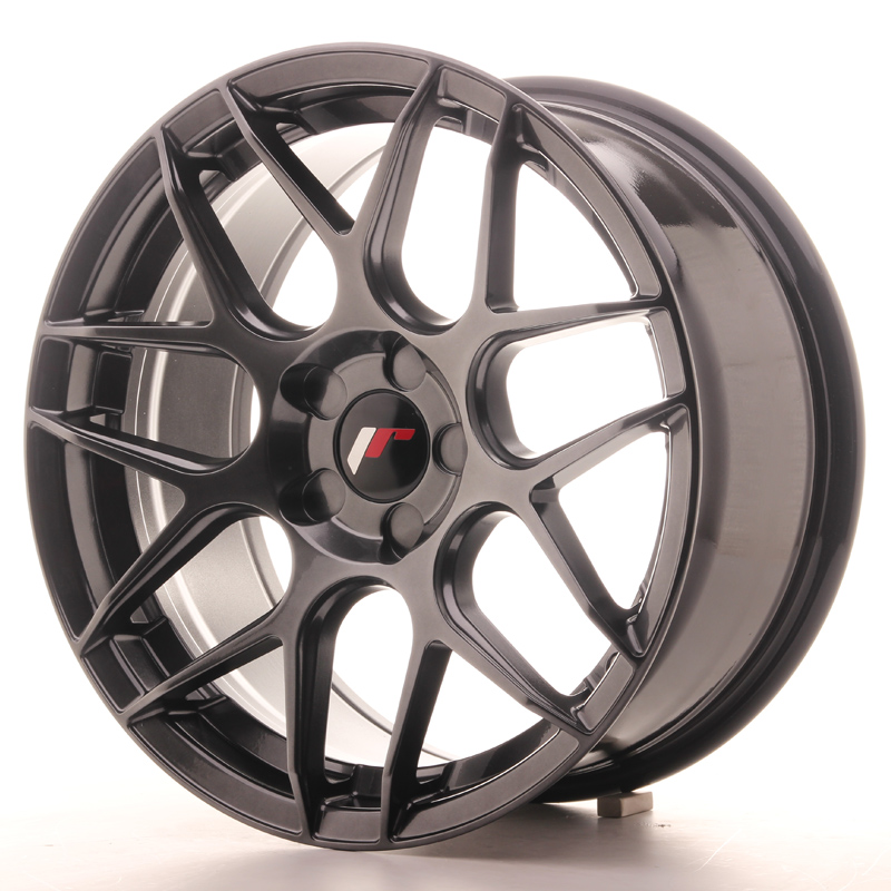 Japan Racing JR18 17x8 ET35 5H Blank Hyper Black