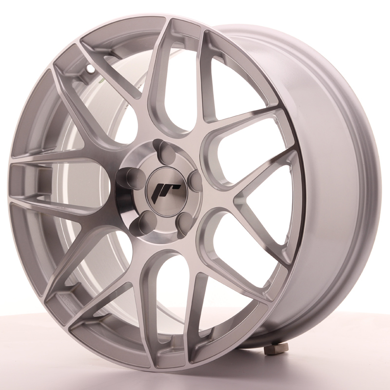 Japan Racing JR18 17x8 ET35 5H Blank Silver Machin