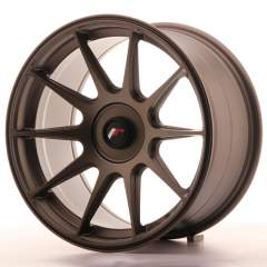Japan Racing JR11 17x9 ET25-35 Blank Matt Bronze