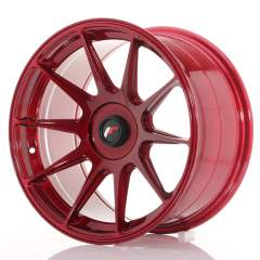 Japan Racing JR11 17x9 ET25-35 Blank Platinum Red
