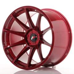 Japan Racing JR11 19x11 ET25 5H Blank Platinum Red