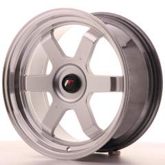Japan Racing JR12 17x8 ET35 Blank Hyper Silver