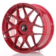Japan Racing JR18 17x7 ET20-40 Blank Platinum Red