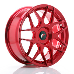 JR Wheels JR18 17x7 ET20-40 BLANK Platinum Red