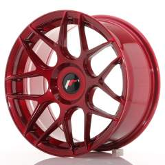 Japan Racing JR18 17x8 ET25-35 Blank Platinum Red