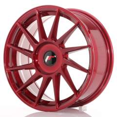 Japan Racing JR22 17x7 ET35-40 Blank Platinum Red