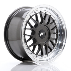 JR Wheels JR23 16x8 ET20-45 BLANK Hyper Gray w/Machined Lip