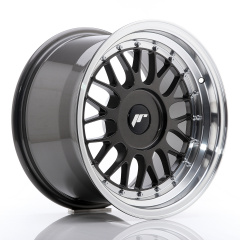 JR Wheels JR23 16x9 ET20-35 BLANK Hyper Gray w/Machined Lip