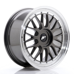 JR Wheels JR23 18x8 ET30-45 BLANK Hyper Gray w/Machined Lip
