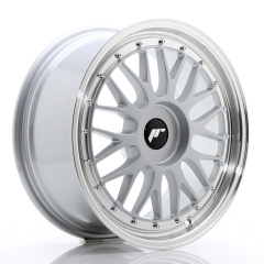 JR Wheels JR23 18x8 ET30-45 BLANK Hyper Silver w/Machined Lip