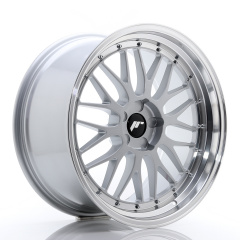 JR Wheels JR23 20x10 ET20-38 5H BLANK Hyper Silver w/Machined Lip