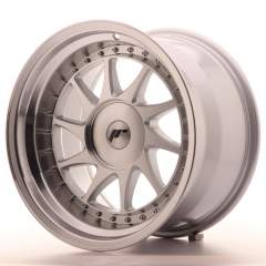 Japan Racing JR26 17x10 ET0-25 Blank Mach Silver