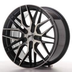 Japan Racing JR28 17x8 ET25-40 BLANK Black Machine