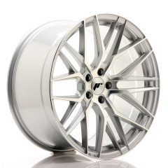 JR Wheels JR28 20x10 ET40 5x120 Silver Machined Face