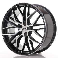 Japan Racing JR28 21x9 ET15-45 5H Blank Black Mach