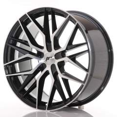 Japan Racing JR28 22x9 ET30-45 5H Blank Black Mach