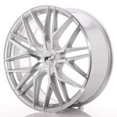 Japan Racing JR28 22x9 ET30-45 5H Blank Silver Mac