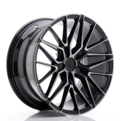 JR Wheels JR38 18x9 ET20-45 5H BLANK Black Brushed w/Tinted Face