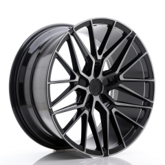 JR Wheels JR38 20x10 ET20-45 5H BLANK Black Brushed w/Tinted Face