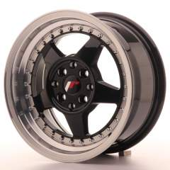 Japan Racing JR6 15x7 ET25 4x100/108 Glossy Black