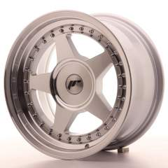 Japan Racing JR6 16x8 ET10-30 Blank Mach Silver