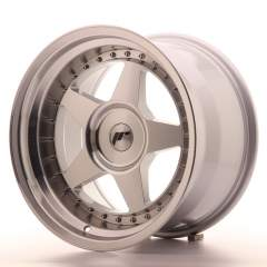 Japan Racing JR6 17x10 ET0-20 Blank Mach Silver