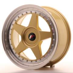 Japan Racing JR6 17x8 ET20-35 Blank Gold