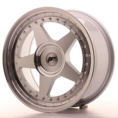 Japan Racing JR6 17x8 ET35 Blank Mach Silver