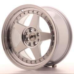 Japan Racing JR6 17x9 ET35 4x100/114 Machined Sil